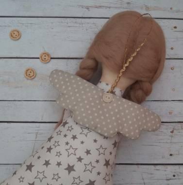 Ангел текстильный ручной работы