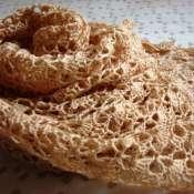 Шаль Песочное печенье (шелк, хлопок, шерсть)
