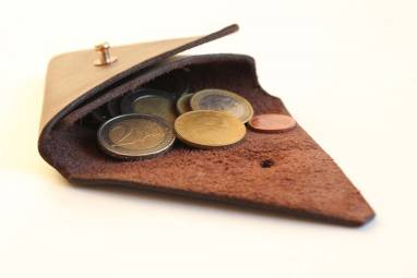 Монетница кожаная ручной работы