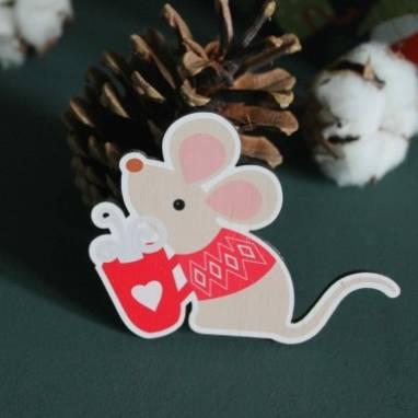 Магнит символ года 2020 Крыса  ручной работы