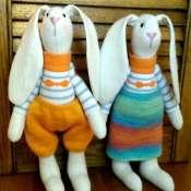 Куклы пара зайцев