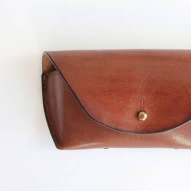 Футляр кожаный (mahogany) ручной работы