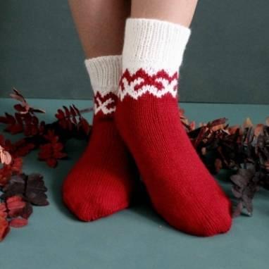 Носки новогодние ручной работы
