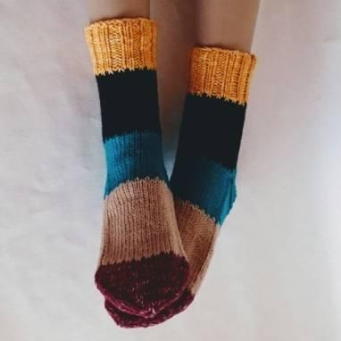 """Носки -домашняя обувь """" Мозаика """" ручной работы"""