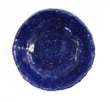 Керамическая тарелка ручной работы