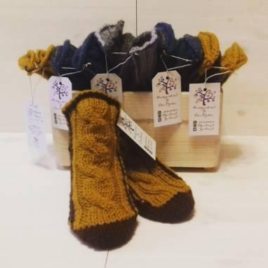 Носки-тапочки ручной работы