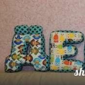 Мягкая буква-подушка