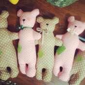 Мишки текстильные из хлопка