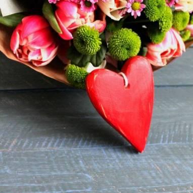 валентинка на 14 февраля ручной работы