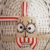 текстильная игрушка заяц