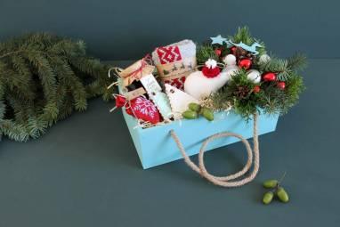 Подарочный набор в деревянном ящике ручной работы