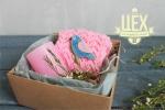 Подарок с керамической брошкой