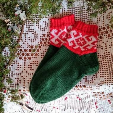 """Носки женские вязаные """" Белорусский сувенир """" ручной работы"""