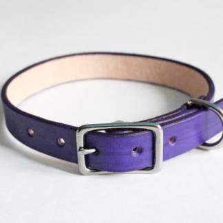Ошейник кожаный для собаки (Purple)