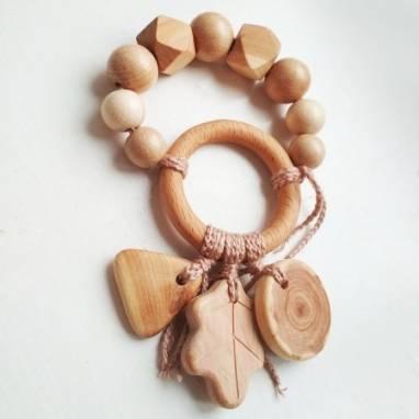 Грызунок деревянный из можжевельника ручной работы