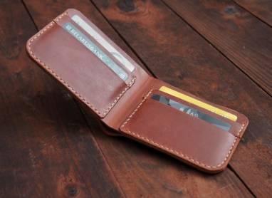 Классический кошелек из натуральной кожи Bifold ручной работы