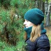 шапка и снуд GREEN