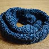 Мягкий вязаный шарф в 2 оборота