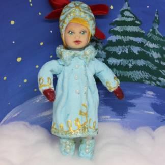 Игрушка новогодняя  из ваты. Серия Дружный Новый год: Снегурочка