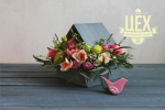 Большая кормушка с цветами