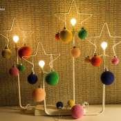 Ёлочные шарики 2 см, обвязанные крючком