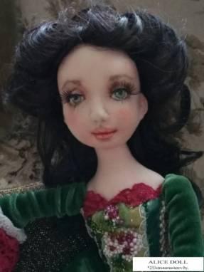 Авторская кукла Маленькая фрейлина ручной работы