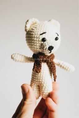 Вязаная игрушка Белый Мишка ручной работы