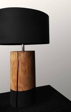 Oak flaws (table lamp) #18 ручной работы