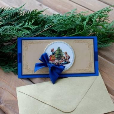 рождественская открытка ручной работы