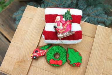 Подарок новогодний с пряниками ручной работы