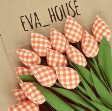 Тюльпаны Тильда ручной работы