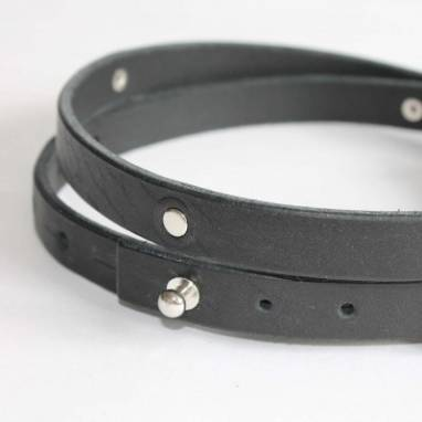 Ремень кожаный Satu (black) ручной работы