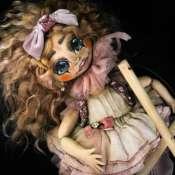 Текстильная марионетка Адель