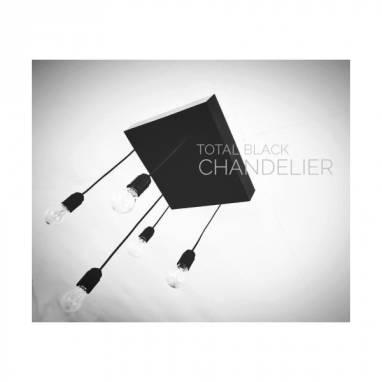 Chandelier (total black) #2 ручной работы