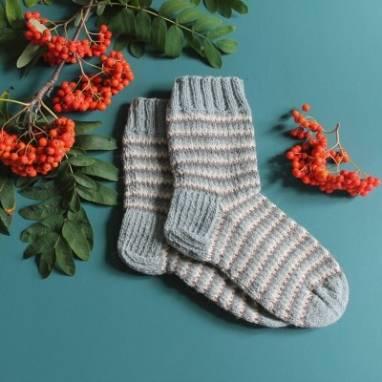 Вязанные носочки из натуральной шерсти ручной работы