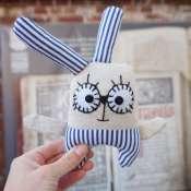 Текстильная игрушка зайка ECOTOYS