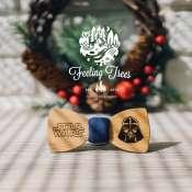 Деревянная галстук - бабочка с гравировкой