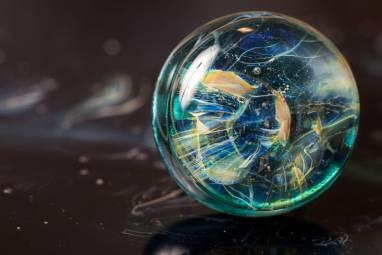 """Кольцо из стекла """"Рождение звезды"""" ручной работы"""