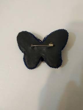 Брошь Бабочка Skyrim из бусин и бисера ручной работы