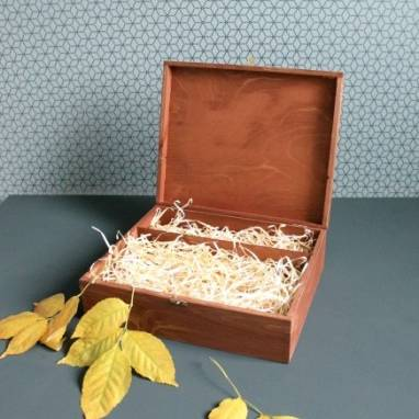 Большая деревянная коробка  ручной работы