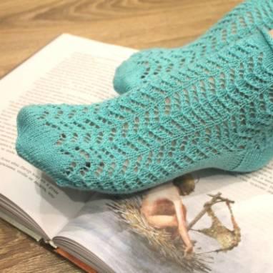 ажурные носочки вязанные ручной работы