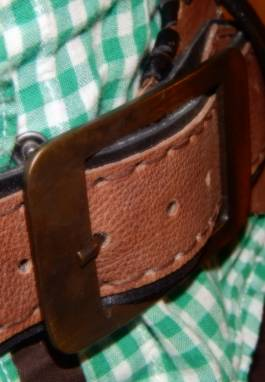 пояс кожаный дикий ручной работы