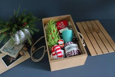 Подарочный набор с елочкой ручной работы