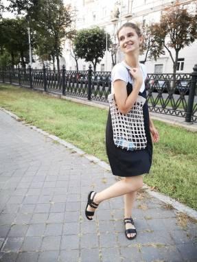 Авторская авоська трансформер ручной работы