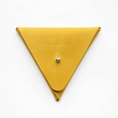 Монетница кожаная (rape yellow) ручной работы