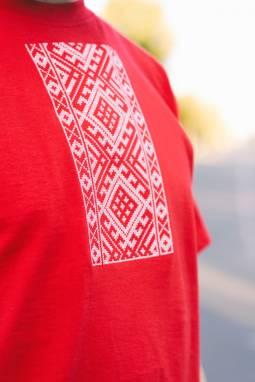 """Мужская футболка вышиванка """"Пладавітасць"""" ручной работы"""