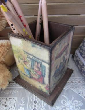 Карандашница ручной работы