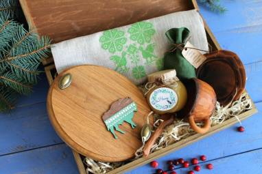 Новогодний подарочный набор для партнеров ручной работы