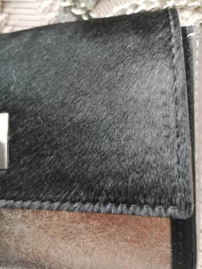 Дизайнерский клатч из натуральной кожи ручной работы