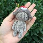 Ванечка - вязаный малыш с шапочкой обзьянкой